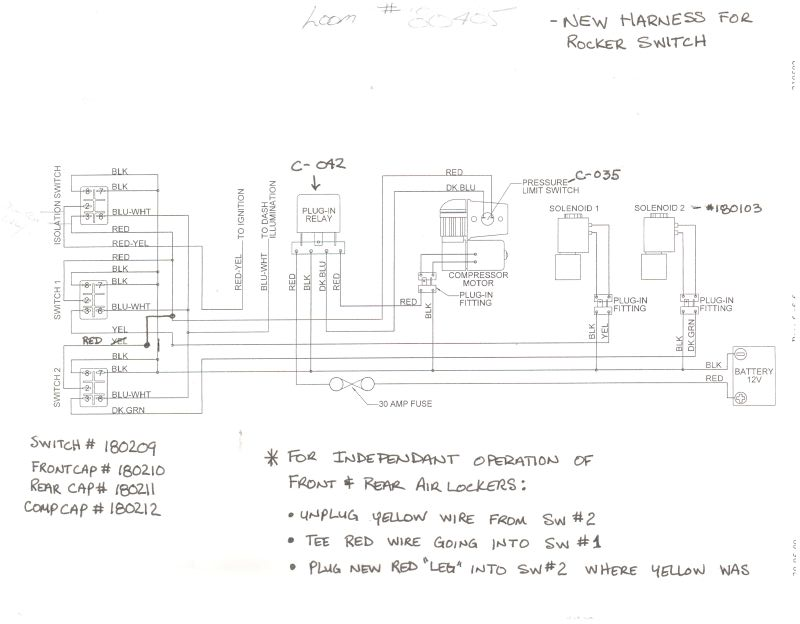 arb locker wiring plumbing expedition portal here is a modified sketch for independent locker operations but it shows you how they are wired none the less